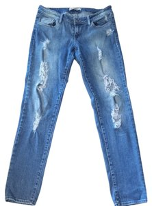 Forever 21 Relaxed Fit Jeans-Distressed