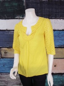 Anthropologie Tabitha Top Yellow