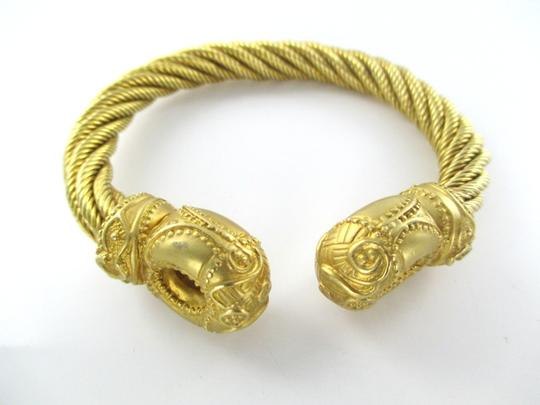 Other 18K SOLID YELLOW GOLD CELTIC TORC CABLE BRACELET STUNNING ANTIQUE 137.1 GRAMS