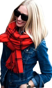 Zara NEW!!! TAGS Zara Red Black Check Plaid Large Soft Scarf Wrap NWT!