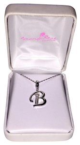 Amanda Rose Collection Diamond Initial 'B' Pendant Necklace