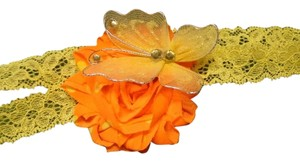 Other Orange and Yellow Flower. Handmade Flower on elastic. hair accessories.