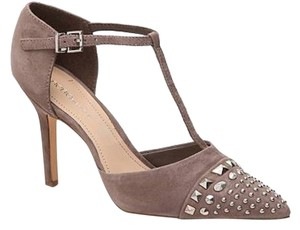 BCBGeneration Suede With Studded Toe Grey Pumps