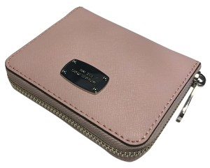 Michael Kors Michael Kors ZA Bifold Jet Set Travel Clutch Wallet Blossom Pink Saffiano Leather