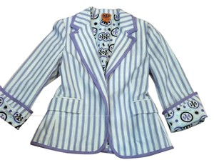 Tory Burch Polka Dot Purple/white Blazer