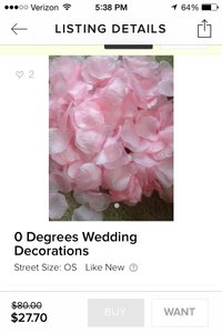 0 Degrees Wedding Decorations