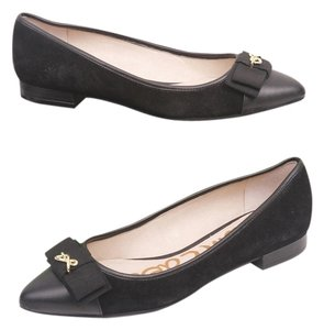 Sam Edelman Leather Loafer Slip-on Casual Black Flats