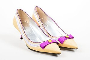 Dolce&Gabbana Dolce Gabbana Purple Tan Beige Pumps