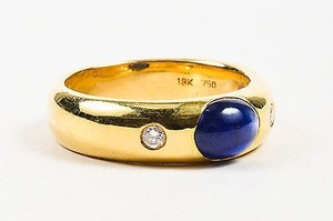 Other 18k Yellow Gold Oval Sapphire Diamond Ring