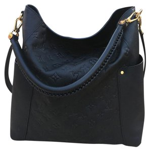 Louis Vuitton Leather Bagatelle Noir Empreinte Shoulder Bag