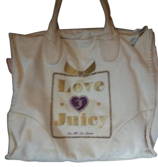 Preload https://item5.tradesy.com/images/juicy-couture-tote-bag-off-white-gold-lettering-purple-bling-1265959-0-0.jpg?width=440&height=440