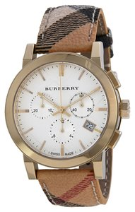 Burberry BURBERRY The City Chronograph White Dial Haymarket Check Unisex Watch