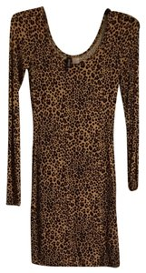 Divided by H&M short dress Leopard on Tradesy