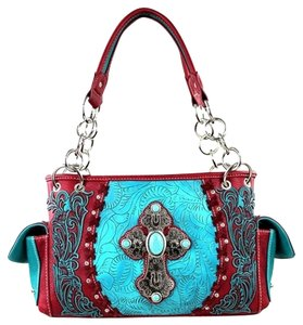 Montana West Spiritual Collection Satchel in Red