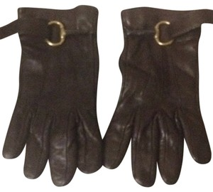 Gucci Authentic Horsebit Leather/Cashmere Gloves