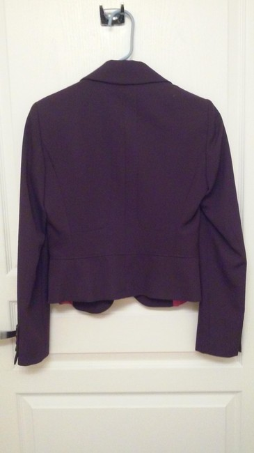 Adrienne Vittadini Tailored Classic Purple Blazer