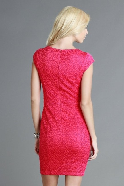 Nikibiki Textured Cap Sleeve Pink Dinner Sexy Dress
