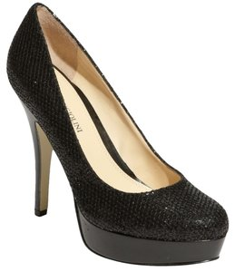 Enzo Angiolini Glitter Sparkle Party Black Glitter Pumps