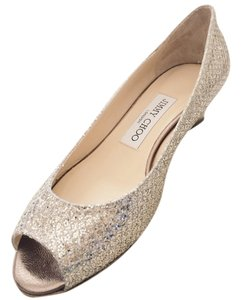 Jimmy Choo Pump Glitter Exclusive Champagne Wedges