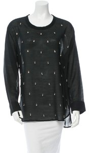 Isabel Marant Long Sleeve Top Black