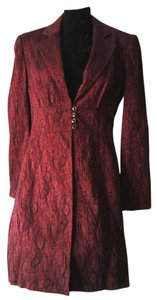 Bisou Bisou Embellished Empire Waist Red and Black Blazer