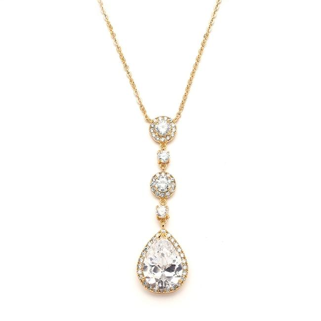 Item - Gold Best-selling with Pear-shaped Cz Drop 400n-g Necklace