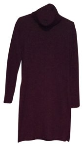 Cynthia Rowley short dress purple Aubergine Cowl Neck on Tradesy