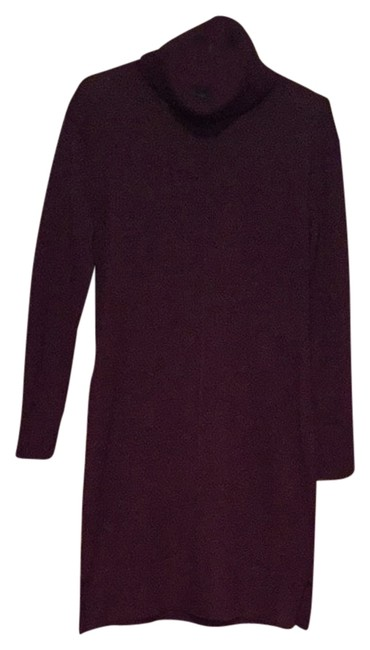 Cynthia Rowley short dress purple Aubergine Cowl Neck Sweater Size S on Tradesy