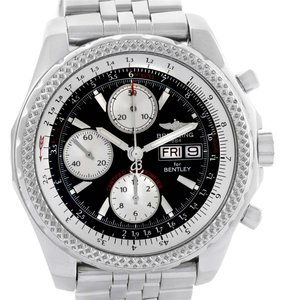 Breitling Breitling Bentley Motors GT Black Dial Steel Mens Watch A13362