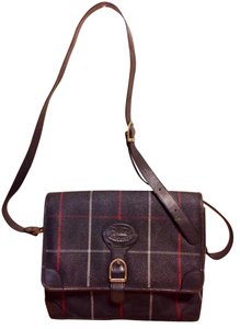 Burberry Vintage London Leather Cross Body Bag