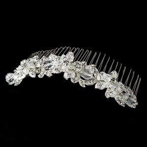 Silver Lovely Floral Swarovski Crystal Tiara Comb Hair Accessory
