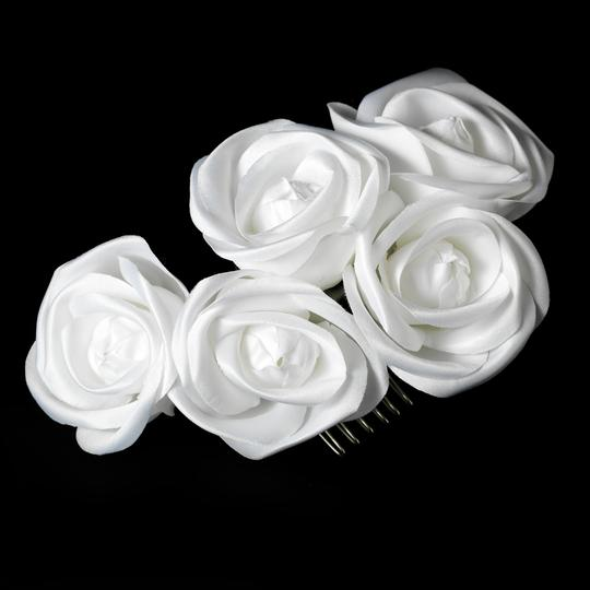 White Charming Flower Comb Hair Accessory