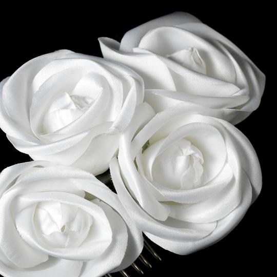 Charming White Flower Bridal Hair Comb