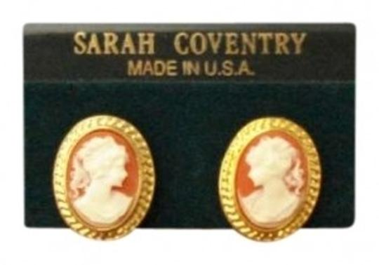 Sarah Coventry Vintage Cameo Earrings