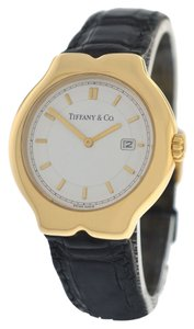 Tiffany & Co. Authentic Ladies Tiffany & Co. Tesoro M0130 18K Yellow Gold Date Quartz Watch
