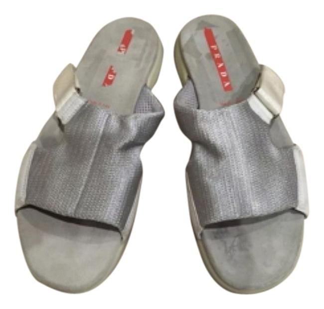 Item - Silver/White/Gray Sandals Size US 8 Regular (M, B)
