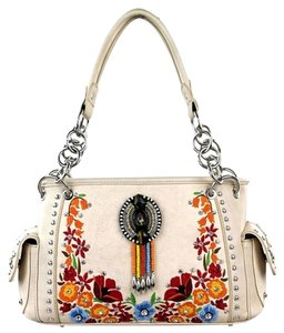 Montana West Embroidery Satchel Shoulder Bag