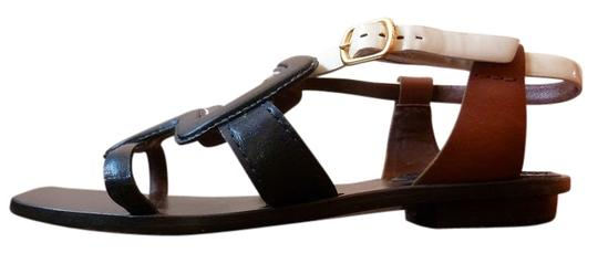 Marc Jacobs Leather Colorblock blue/brown/cream Sandals