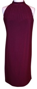 Anne Klein short dress Burgundy Stretch on Tradesy