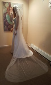 2 Layered White Bridal Cathedral Veil