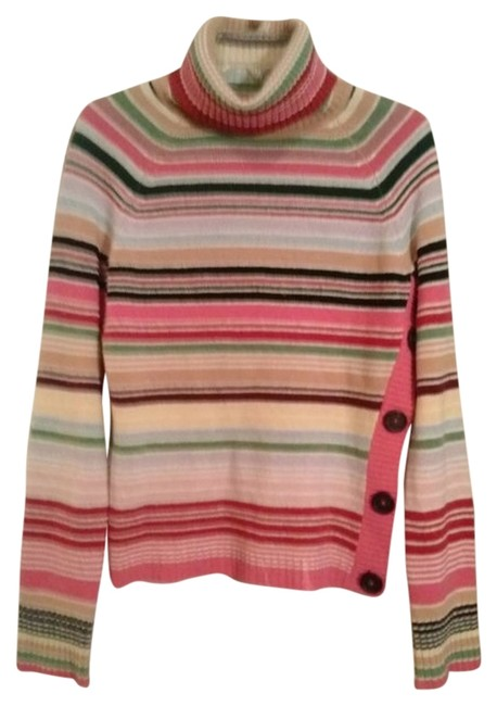 The Limited vintage 80s Retro Stripes Red Creme White Wool Knit Classic Preppy Timeless Casual Boho Career Warm Fall Sweater