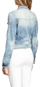 Romeo & Juliet Couture Jean Jean Spring Spring Light blue denim Womens Jean Jacket