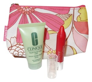 Clinique Clinique Brand New Cosmetic Bag and Beauty Bundle/Clutch/Floral