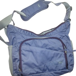 REI Outdoor Nylon Grey Lilac Travel Bag