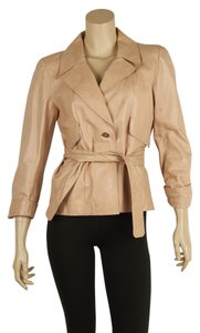 Chanel Leather Belted Pink Leather Jacket