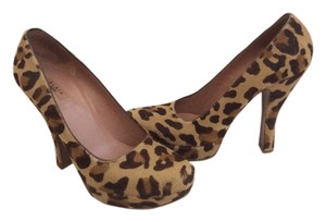 ALAA Pony Hair Calf Hair Retro Leopard Platforms