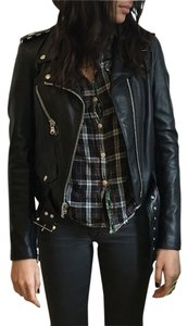 Schott NYC Leather Studded Motorcycle Jacket
