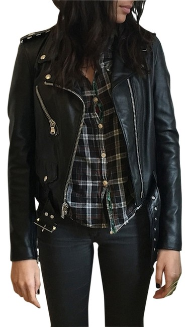 Item - Black Leather For Edith A Miller Leather Jacket Size 4 (S)
