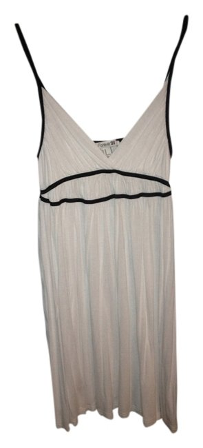 Forever 21 short dress White Greek Style Black Cotton on Tradesy