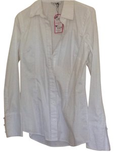 CAbi Button Down Shirt White